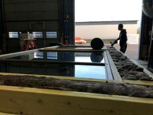 isolatie materiaal geplaatst in een prefab serre